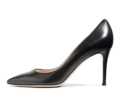 Soireelady-Womens-Pointed-Toe-Dress-Pump-New-Classic-Elegant-Stiletto-Heel-Shoes-8cm-Black-US12-0