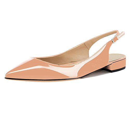 Soireelady-Womens-Pointed-Toe-Pumps-Slingback-Ankle-Strap-Low-Block-Heel-Shoes-2cm-Nude-US12-0