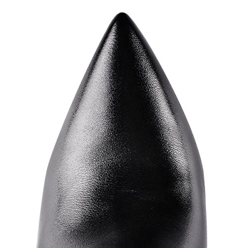 UMEXI-Black-Pointede-Toe-Ankle-Boots-Side-Zipper-47-inches-Stiletto-High-Heels-for-Women-0-1