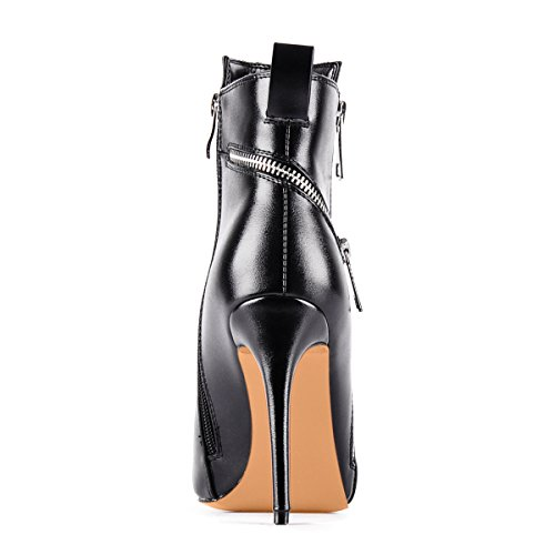 UMEXI-Black-Pointede-Toe-Ankle-Boots-Side-Zipper-47-inches-Stiletto-High-Heels-for-Women-0-2