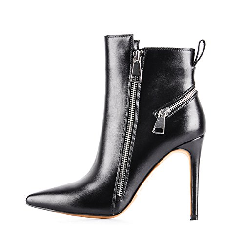 UMEXI-Black-Pointede-Toe-Ankle-Boots-Side-Zipper-47-inches-Stiletto-High-Heels-for-Women-0