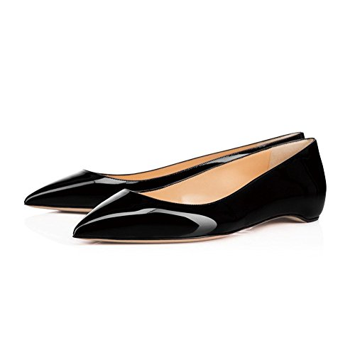UMEXI-Classic-Pointed-Toe-Ballet-Flat-Slip-On-Patent-Leather-Low-Heel-Shoes-for-Women-0-0