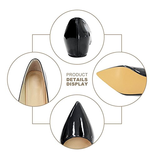 UMEXI-Classic-Pointed-Toe-Ballet-Flat-Slip-On-Patent-Leather-Low-Heel-Shoes-for-Women-0-3