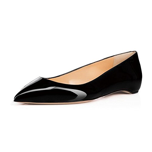 UMEXI-Classic-Pointed-Toe-Ballet-Flat-Slip-On-Patent-Leather-Low-Heel-Shoes-for-Women-0