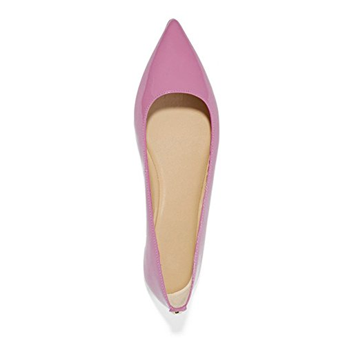 UMEXI-Classic-Pointed-Toe-Ballet-Flat-Slip-On-Patent-Leather-Shoes-for-Women-Purple-Size-6-0-1