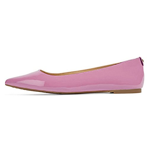UMEXI-Classic-Pointed-Toe-Ballet-Flat-Slip-On-Patent-Leather-Shoes-for-Women-Purple-Size-6-0