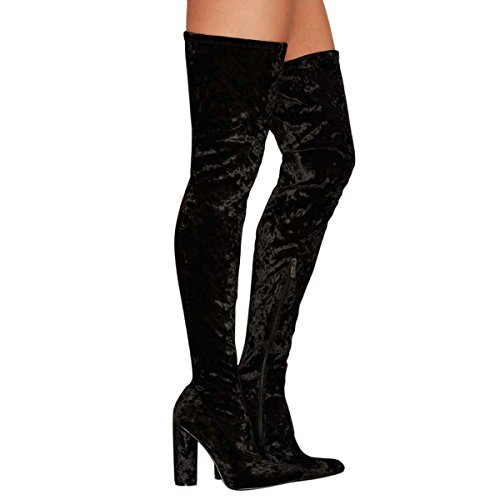 UMEXI-Fashion-Comfy-Vegan-Suede-Block-Heel-Slip-On-Thigh-High-Over-The-Knee-Boots-for-Women-0