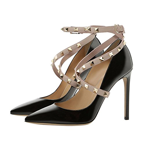 UMEXI-Pointed-Toe-High-Heels-Criss-Cross-Rivets-Ankle-Strap-Stiletto-Pumps-Thin-Heel-Dress-Shoes-for-Women-0-0