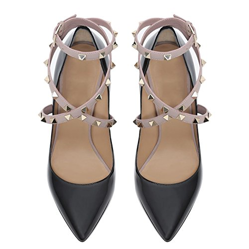 UMEXI-Pointed-Toe-High-Heels-Criss-Cross-Rivets-Ankle-Strap-Stiletto-Pumps-Thin-Heel-Dress-Shoes-for-Women-0-1