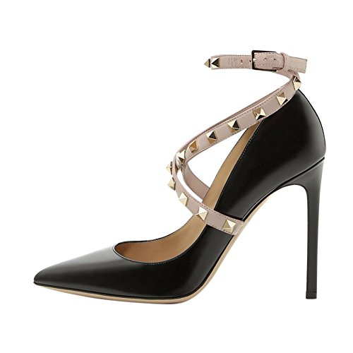 UMEXI-Pointed-Toe-High-Heels-Criss-Cross-Rivets-Ankle-Strap-Stiletto-Pumps-Thin-Heel-Dress-Shoes-for-Women-0
