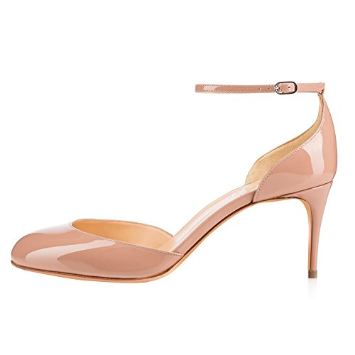 UMEXI-Round-Toe-Ankle-Strap-Sandals-D-orsay-High-Heels-Stilettos-Pumps-for-Women-0-0
