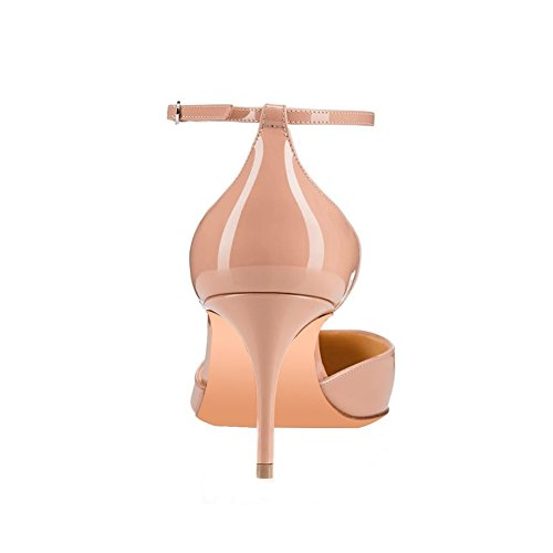 UMEXI-Round-Toe-Ankle-Strap-Sandals-D-orsay-High-Heels-Stilettos-Pumps-for-Women-0-2