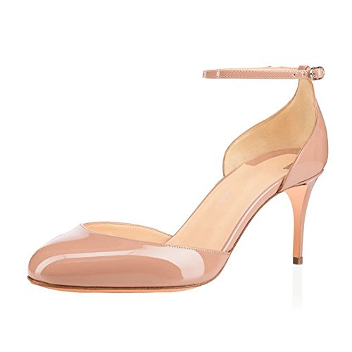 UMEXI-Round-Toe-Ankle-Strap-Sandals-D-orsay-High-Heels-Stilettos-Pumps-for-Women-0