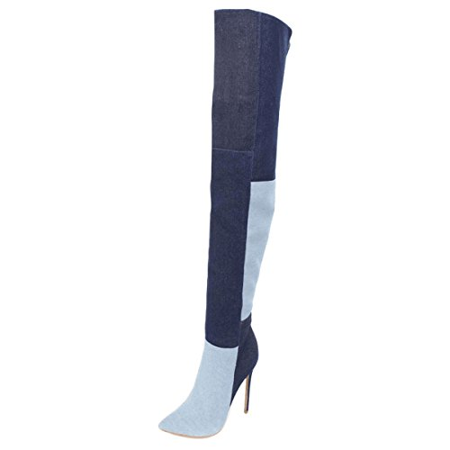 UMEXI-Side-Zipper-Thigh-High-Over-The-Knee-Boots-Stilettos-High-Heel-Pointy-Toe-Contrast-Stitching-Pumps-for-Women-0
