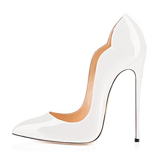 UMEXI-Women-Side-V-cut-Pointed-Toe-High-Heels-Patent-Leather-Stiletto-Pumps-for-Wedding-Party-Shoes-0