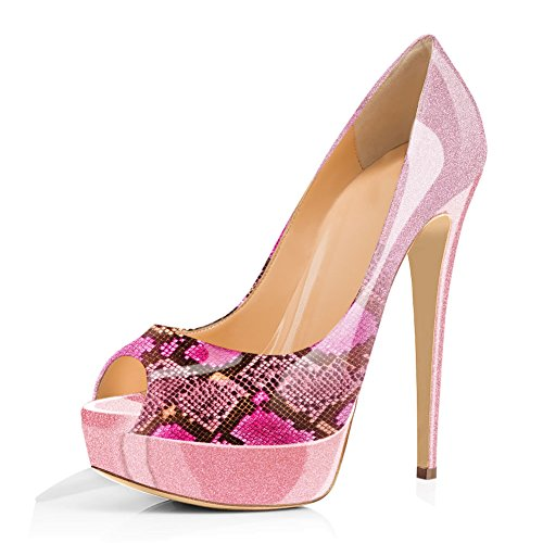 Women-Peep-Toe-Platform-Pumps-Stiletto-Sandals-Slip-On-High-Heels-for-Wedding-Party-Dress-Shoes-Purple-Shimmer-Glitter-Size-14-0
