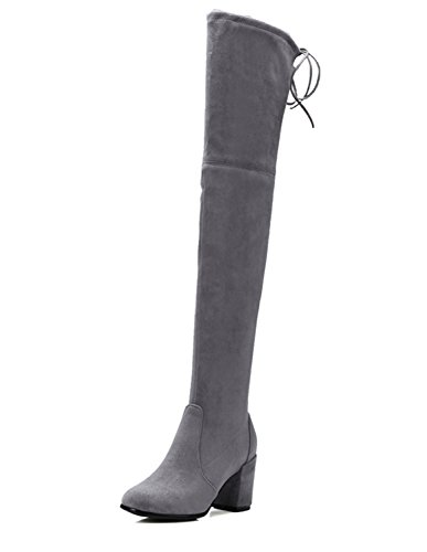 Guoar-Closed-toe-Square-Heel-Over-the-Knee-Thigh-High-Lace-Gray-Microsuede-Stretch-Boots-us10-0