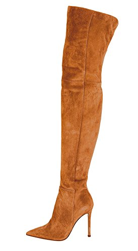 Guoar-Women-Pointed-Toe-Stiletto-Heels-Over-The-Knee-Brown-Microsuede-Stretch-Boots-us105-0
