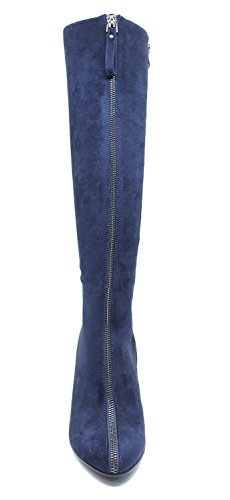 Guoar-Womens-Closed-Toe-Fashion-Zipper-Block-Heels-Knee-High-Boots-Blue-US11-0-0