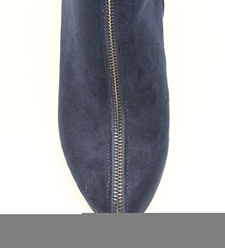 Guoar-Womens-Closed-Toe-Fashion-Zipper-Block-Heels-Knee-High-Boots-Blue-US11-0-3