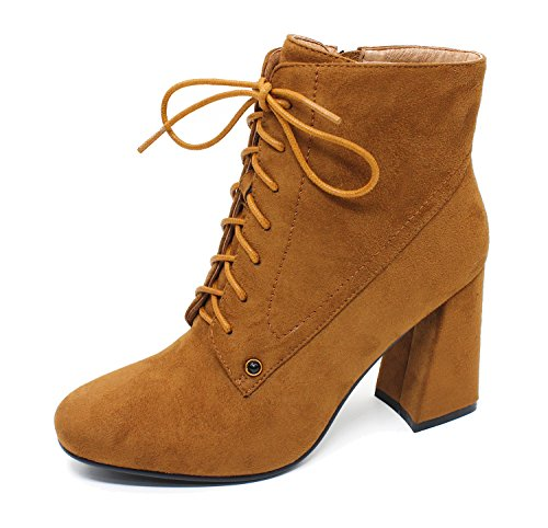 Guoar-Womens-Fashion-Block-Heels-Lace-Up-Ankle-Booties-Brown-us7-0