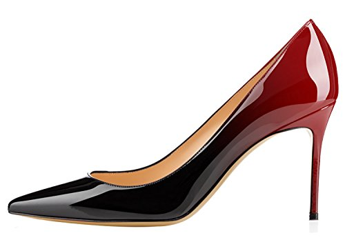 Guoar-Womens-Flattering-Gradient-Pointed-Toe-High-Heels-Stiletto-Grossy-Pumps-Dress-Shoes-size-5-12-Black-Red-US-8-0-1