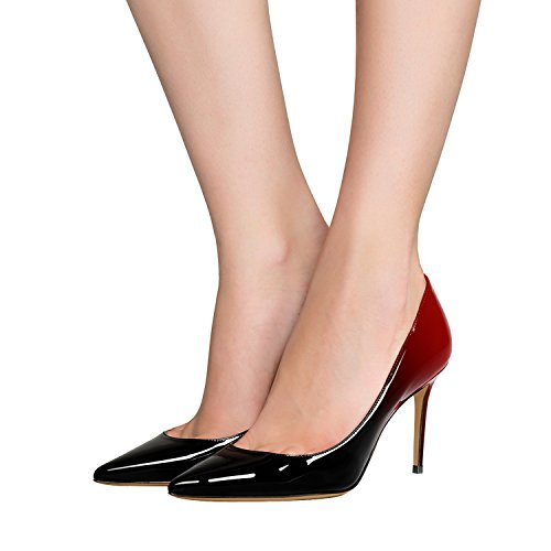 Guoar-Womens-Flattering-Gradient-Pointed-Toe-High-Heels-Stiletto-Grossy-Pumps-Dress-Shoes-size-5-12-Black-Red-US-8-0-2