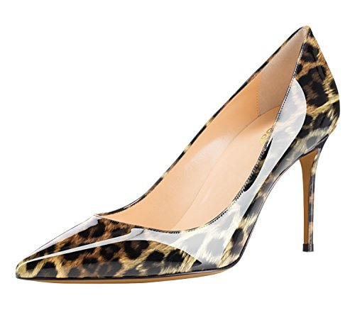Guoar-Womens-Flattering-Gradient-Pointed-Toe-High-Heels-Stiletto-Grossy-Pumps-Dress-Shoes-size-5-12-Leopard-US-11-0