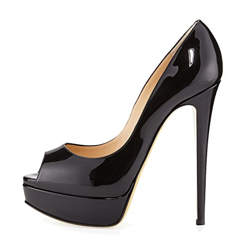 Guoar-Womens-Multicolor-Stiletto-Big-Size-High-Heels-Peep-Toe-Platform-Patent-Pumps-for-Wedding-Party-Dress-0