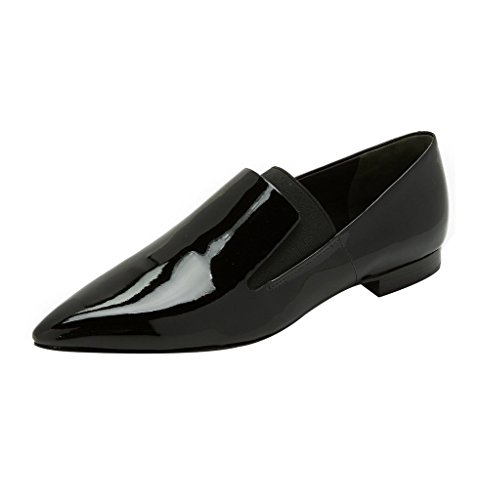 Guoar-Womens-Pointed-Toe-Flats-Shoes-Slip-on-Pumps-Shoes-Big-Size-Patent-Low-Heels-Black-US-10-0-0
