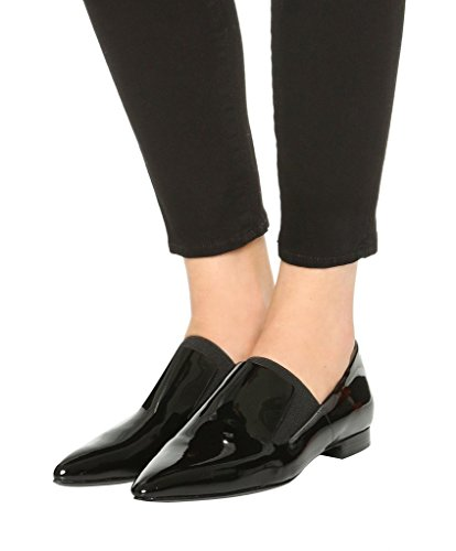 Guoar-Womens-Pointed-Toe-Flats-Shoes-Slip-on-Pumps-Shoes-Big-Size-Patent-Low-Heels-Black-US-10-0-3