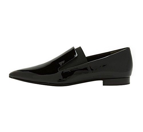 Guoar-Womens-Pointed-Toe-Flats-Shoes-Slip-on-Pumps-Shoes-Big-Size-Patent-Low-Heels-Black-US-10-0