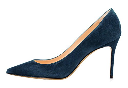 Guoar-Womens-Pointed-Toe-High-Heel-Shoes-Stiletto-Comfort-Suede-Pumps-Dress-Shoes-size-5-12-Dark-Teal-US-12-0-0