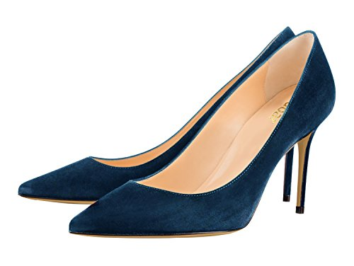 Guoar-Womens-Pointed-Toe-High-Heel-Shoes-Stiletto-Comfort-Suede-Pumps-Dress-Shoes-size-5-12-Dark-Teal-US-12-0-1