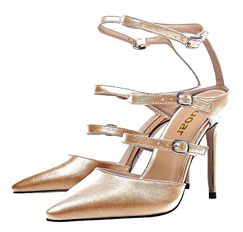Guoar-Womens-Pointed-Toe-Stiletto-Heels-Ankle-Strap-Strappy-Sandals-Pumps-Shoes-For-Party-Dress-Gold-PU-US-12-0-1