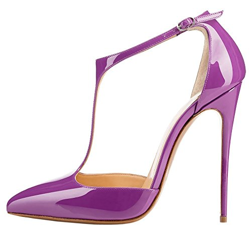Guoar-Womens-Stiletto-Big-Size-Heel-Sandals-Pointed-Toe-Colourful-Patent-Pumps-for-Wedding-Party-Dress-Purple-US10-0