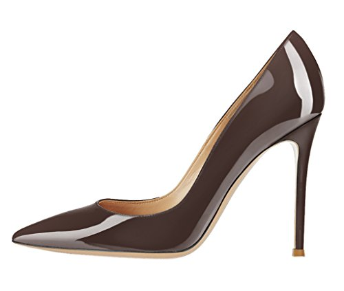 Guoar-Womens-Stiletto-Big-Size-Sandals-Solid-Shoes-Pointed-Toe-Ladies-Patent-Pumps-for-Wedding-Party-Dress-Brown-US-7-0