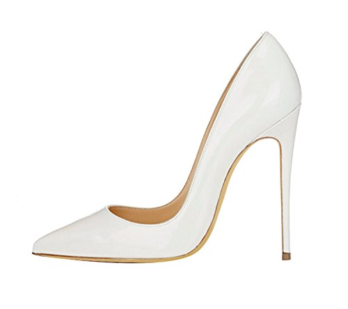 Guoar-Womens-Stiletto-Big-Size-Shoes-Pointed-Toe-Patent-Ladies-Solid-Pumps-For-Work-Place-Dress-Party-White-US9-0