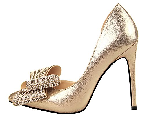 Guoar-Womens-Stiletto-Heel-Big-Size-Shoes-Pointed-Toe-DOrsayTwo-Piece-Bowtie-Pump-For-Wedding-Party-Dress-Gold-US10-0