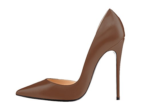 Guoar-Womens-Stiletto-Heels-Sandals-Big-Size-Solid-Shoes-Pointed-Toe-DOrsayTwo-Piece-Pumps-for-Wedding-Party-Dress-Tan-US75-0