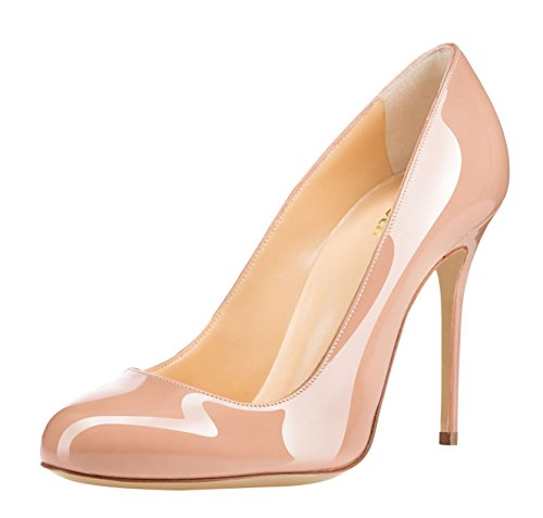 Guoar-Womens-Stiletto-Round-Toe-High-Heels-Pumps-Prom-Party-Dress-Shoes-size-5-12-US-Nude-US-7-0