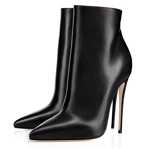 JOOGO-Pointed-Toe-Ankle-Boots-Size-Zipper-Stiletto-High-Heels-Party-Wedding-Pumps-Dress-Shoes-for-Women-Black-Leather-Size-9-0-3