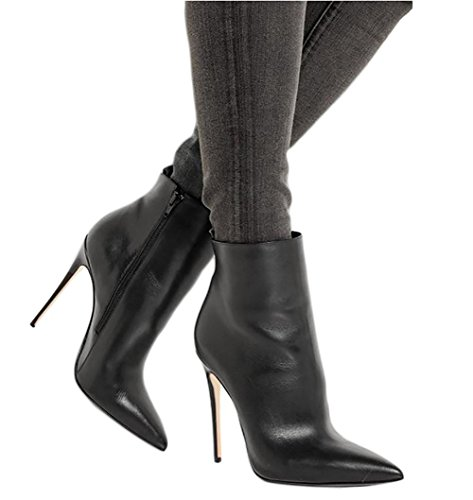 JOOGO-Pointed-Toe-Ankle-Boots-Size-Zipper-Stiletto-High-Heels-Party-Wedding-Pumps-Dress-Shoes-for-Women-Black-Leather-Size-9-0-4