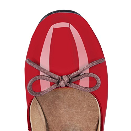 JOOGO-Women-Round-Toe-Ballet-Flats-With-Bow-Tie-Slip-On-Casual-Comfortable-Shoes-Red-Size-8-0-1