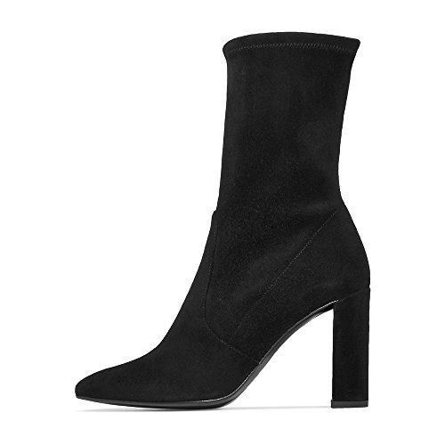Modemoven-Womens-Black-Pointed-Toe-Block-High-Heel-Stretch-Suede-Ankle-Boots-Ladies-Sexy-Booties-US75-0-0