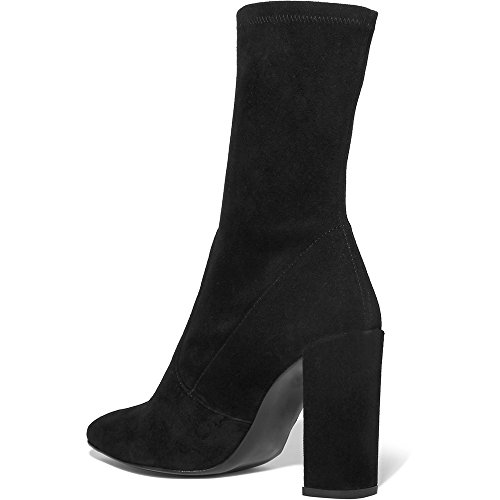 Modemoven-Womens-Black-Pointed-Toe-Block-High-Heel-Stretch-Suede-Ankle-Boots-Ladies-Sexy-Booties-US75-0-1