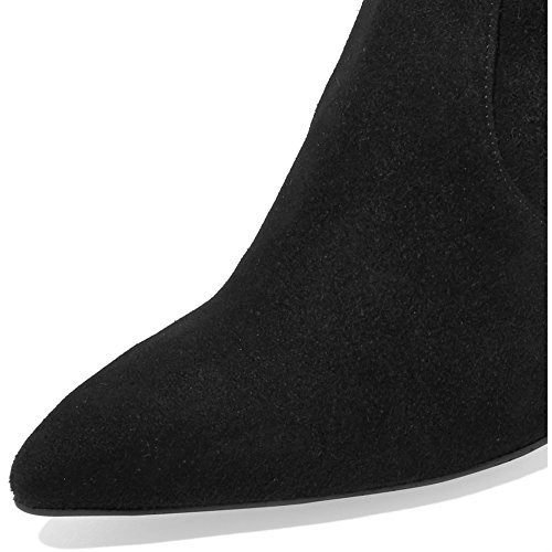 Modemoven-Womens-Black-Pointed-Toe-Block-High-Heel-Stretch-Suede-Ankle-Boots-Ladies-Sexy-Booties-US75-0-3