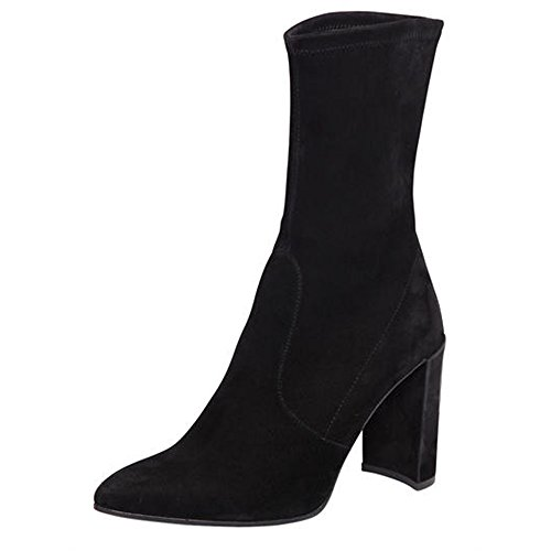 Modemoven-Womens-Black-Pointed-Toe-Block-High-Heel-Stretch-Suede-Ankle-Boots-Ladies-Sexy-Booties-US75-0