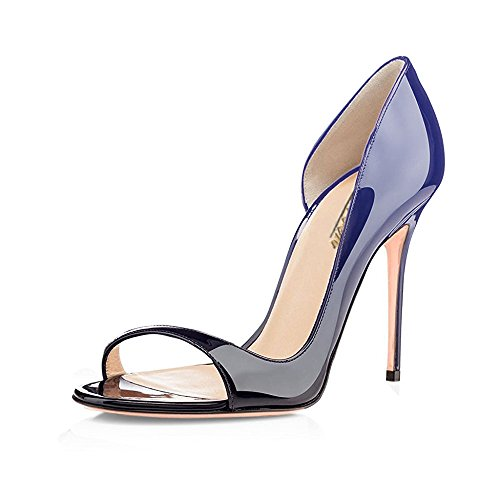 Modemoven-Womens-Gradient-Blue-Black-PumpsPeep-Toe-HeelsSlingback-SandalsEvening-ShoesCute-Stilettos-115-M-US-0