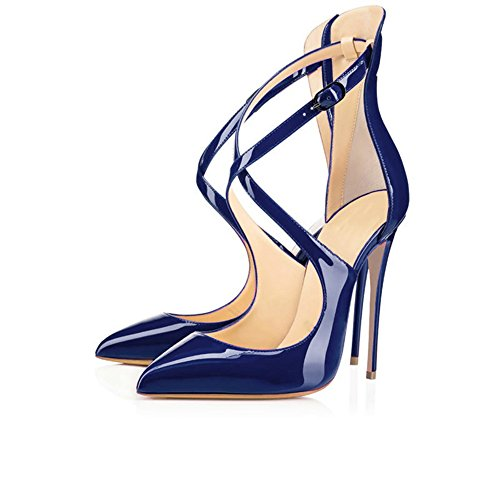 Modemoven-Womens-Pointed-Toe-Heels-with-Ankle-Strap-Dress-Dorsay-PumpsCriss-Cross-Blue-Sandals-8-M-US-0